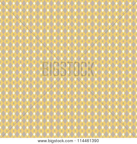 Mustard yellow and taupe vector geometric seamless pattern.