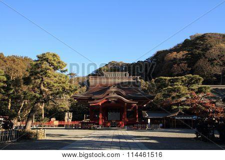 Dance hall of Tsurugaoka Hachimangu shrine in Kamakura