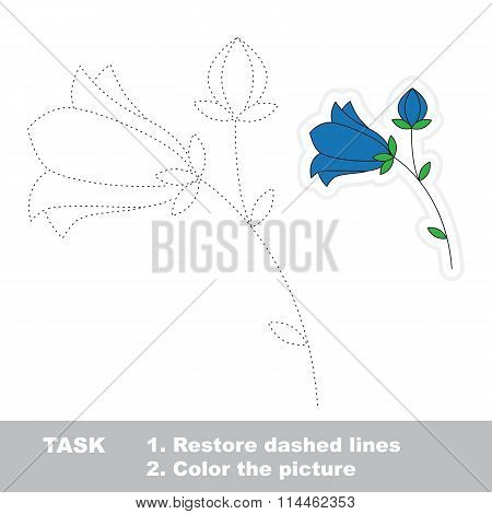 Bluebell to be traced. Vector trace game.