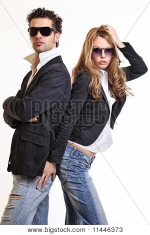 Young Sexy Couple Posing In Studio