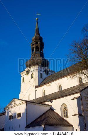 TALLINN, ESTONIA - DECEMBER 25: St Mary's Cathedral in old city at daytime on December 25, 2015 in Tallinn, Estonia