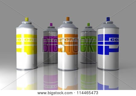 Color Aerosol Can