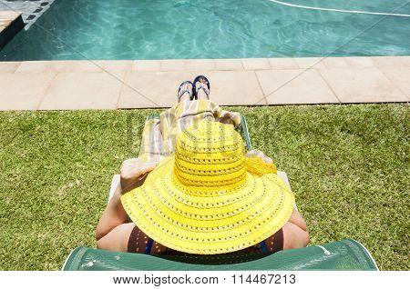 Woman Hat Pool