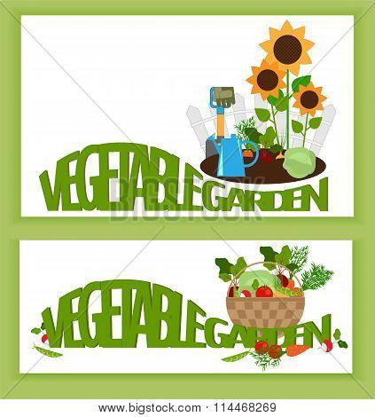 Banner A Vegetable Garden