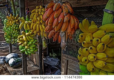 Marketplace Bananas On The Street