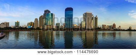 High Office Buildings In Midtown Bangkok Thailand