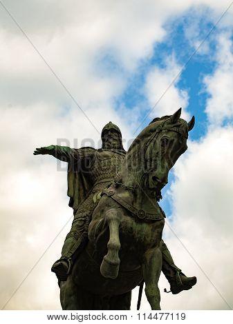 Yuri Dolgorukiy Monument In Moscow, Russia