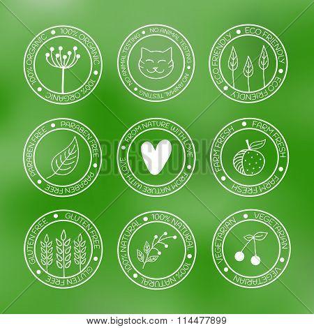 Organic icons set.
