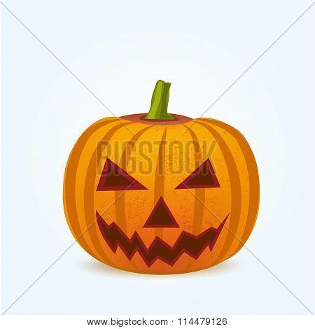 Pumpkin for Halloween  on white