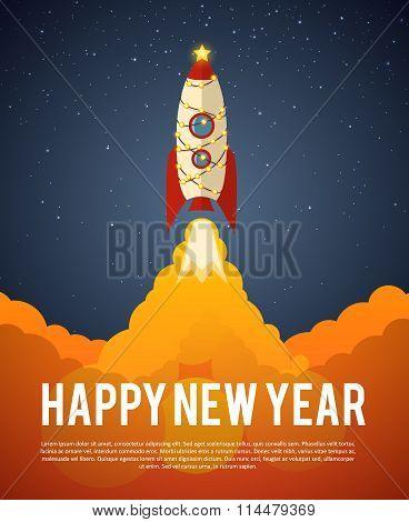 happy new year rocket