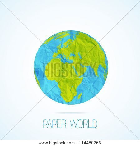 paper world isolated on white