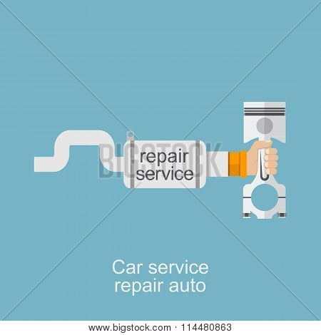 Car Service, Repair Auto Logo