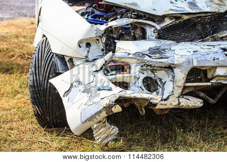 Car Get Damaged By Accident