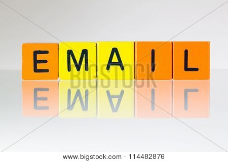 Email - An Inscription From Children's Blocks