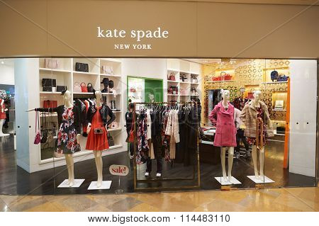 HONG KONG - DECEMBER 25, 2015: Kate Spade storel in Hong Kong. Kate Spade New York is an American fashion design house founded as Kate Spade Handbags