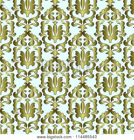 Classic damask ornament pattern