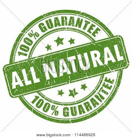 Natural guarantee stamp