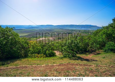 Mountain landscape view from  Sapun mountain