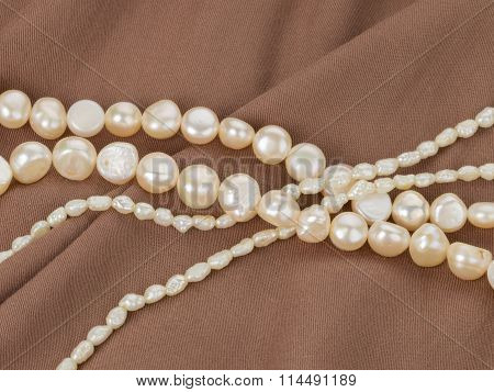 Beads From Natural White Pearls
