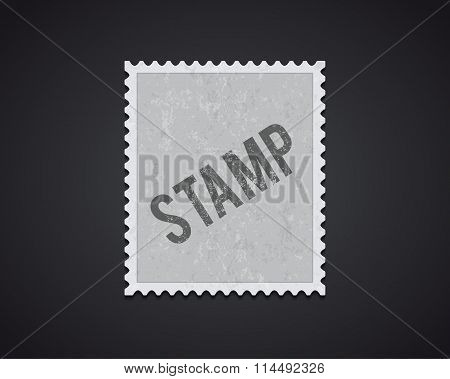 white stamp mockup eps 10 high quality