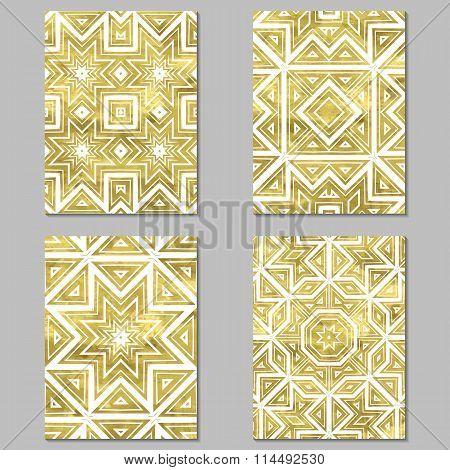 Set of 4 golden cards