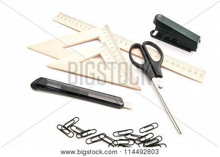 Scissors, Paper Clips And Other Stationery