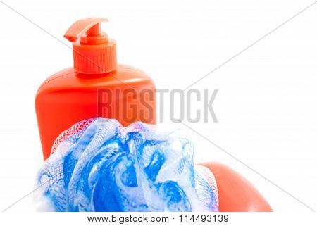 Bottle With Gel, Soap And Wisp