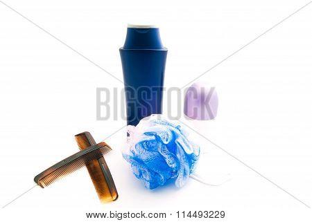 Deodorant, Comb And Shampoo