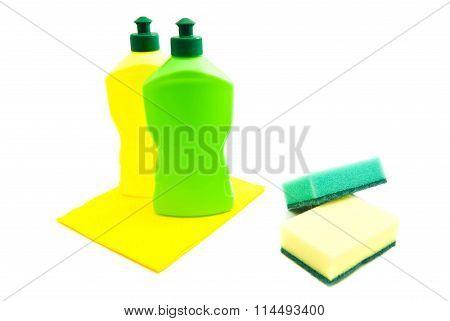 Sponges, Rag And Bottles