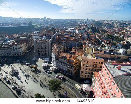 PORTO, PORTUGAL - CIRCA DECEMBER 2015: Aerial View of Porto, Portugal