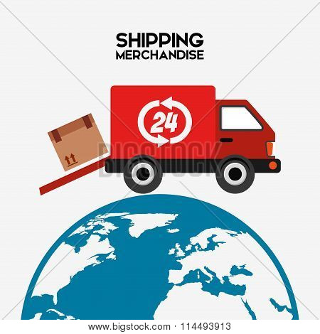 shipping logistics of merchandise design