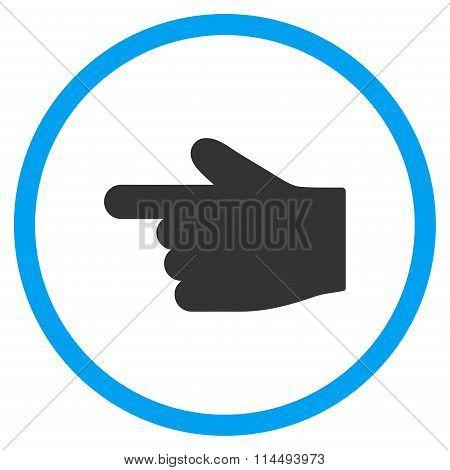 Left Index Finger Flat Icon