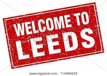Leeds Red Square Grunge Welcome To Stamp