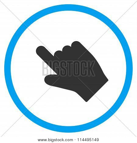 Up Left Index Finger Icon