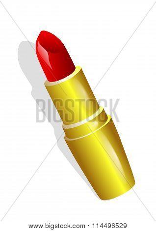 Lipstick In Gold Tube