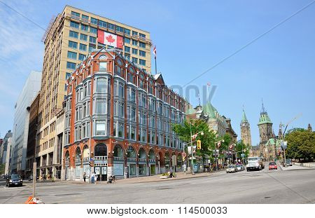 Downtown Ottawa Buildings and Parliament
