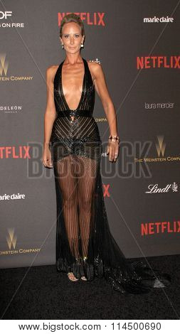 BEVERLY HILLS, CA - JAN. 10: Victoria Hervey arrives at the Weinstein Company and Netflix 2016 Golden Globes After Party on Sunday, January 10, 2016 at the Beverly Hilton Hotel in Beverly Hills, CA.