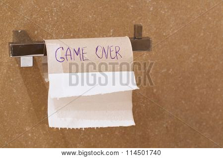 The Words -game Over.