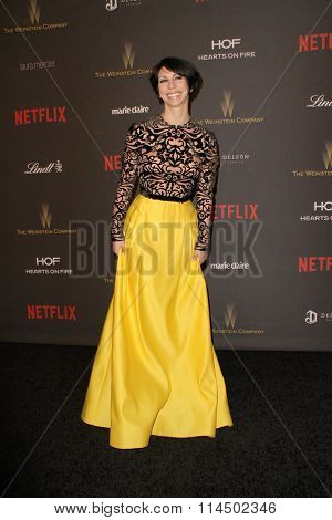 BEVERLY HILLS, CA - JAN. 10: Jessica Pohly arrives at the Weinstein Company and Netflix 2016 Golden Globes After Party on Sunday, January 10, 2016 at the Beverly Hilton Hotel in Beverly Hills, CA.