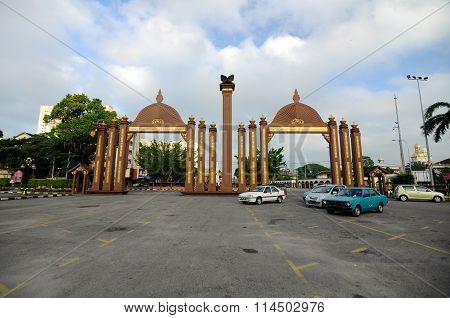 Pintu Gerbang Kota Sultan Ismail Petra in Kota Bharu, Kelantan, Malaysia.