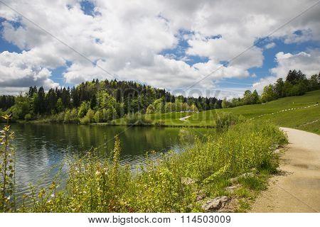 Gradisko lake, Lukovica, Slovenia