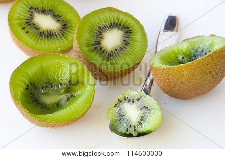 Fresh Green Kiwis
