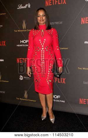 BEVERLY HILLS, CA - JAN. 10: Garcelle Beauvais arrives at the Weinstein Company and Netflix 2016 Golden Globes After Party on Sunday, Jan. 10, 2016 at the Beverly Hilton Hotel in Beverly Hills, CA.