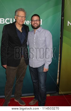 LOS ANGELES - JAN 14:  Carlton Cuse, Ryan Condal at the NBCUniversal Cable TCA Press Day Winter 2016 at the Langham Huntington Hotel on January 14, 2016 in Pasadena, CA