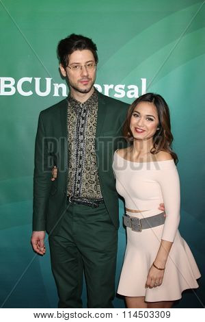 LOS ANGELES - JAN 14:  Hale Appleman, Summer Bishil at the NBCUniversal Cable TCA Press Day Winter 2016 at the Langham Huntington Hotel on January 14, 2016 in Pasadena, CA