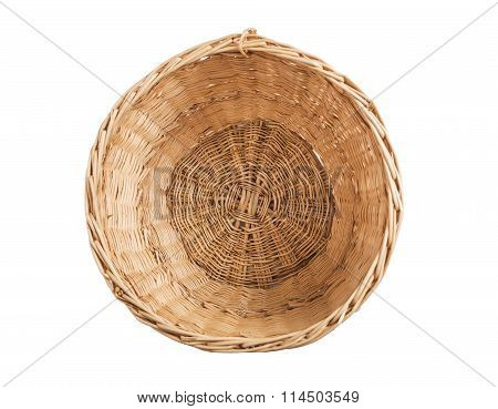 Wicker basket inside.