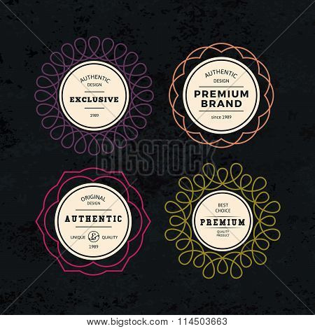 Set Of Elegant Labels With Frames
