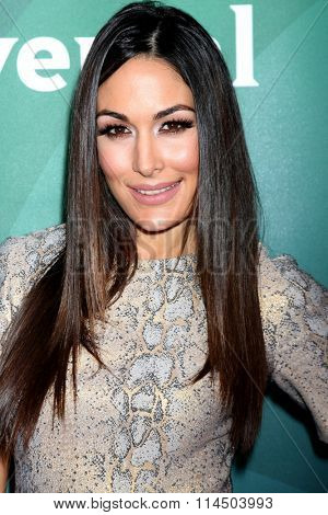 LOS ANGELES - JAN 14:  Brie Bella at the NBCUniversal Cable TCA Press Day Winter 2016 at the Langham Huntington Hotel on January 14, 2016 in Pasadena, CA