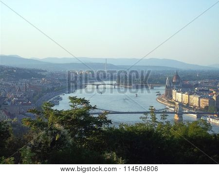 View of Budapest and the Danube ( Hungary )