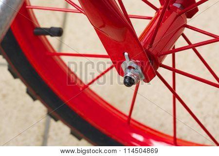 Bike Hub. Closeup